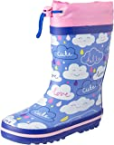 Clarks Girls' Puddles G Boots, Blue/Pink E