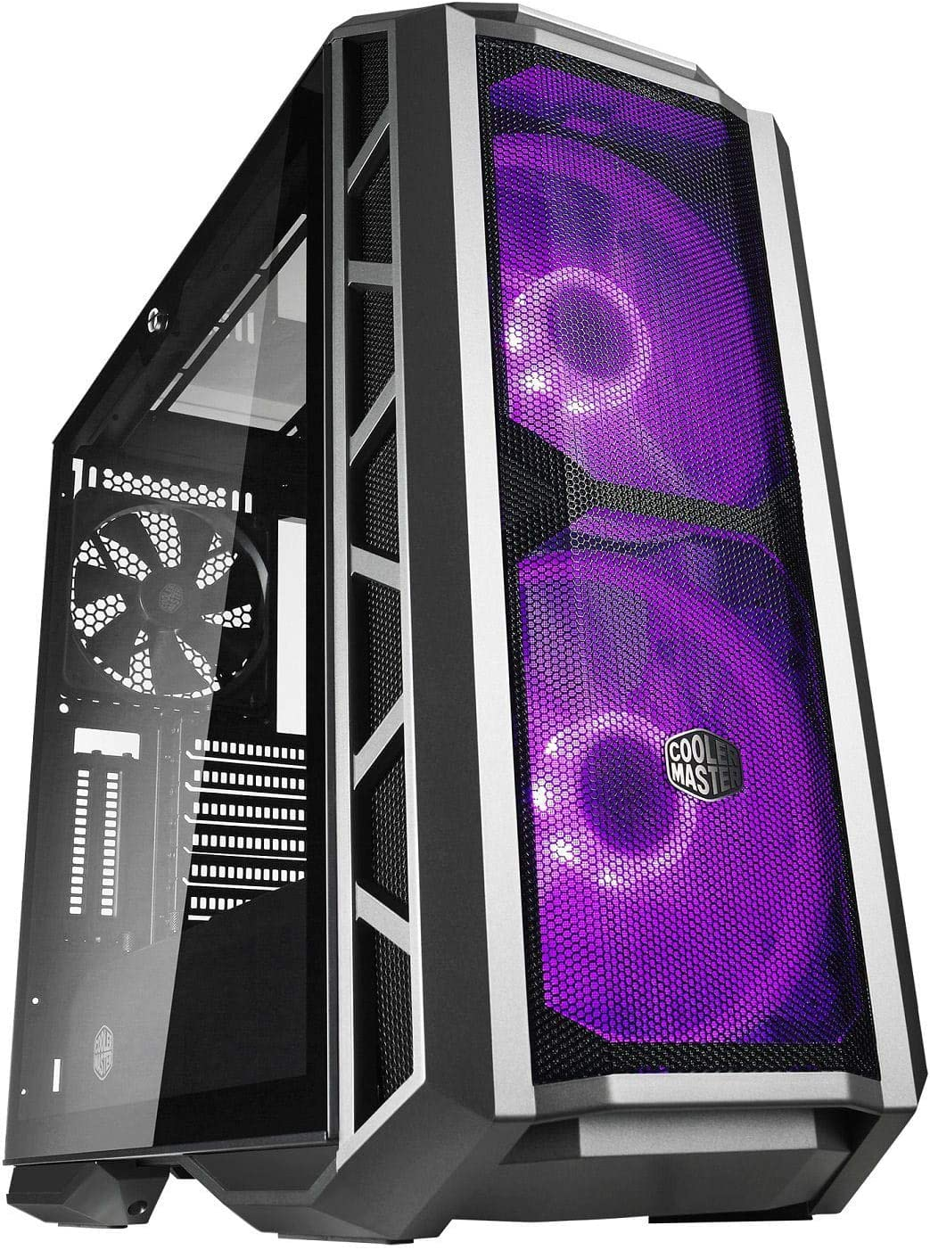 """Cooler Master MasterCase H500P Mesh Computer Case""""High Air Flow Mesh Front, RGB LED, Tempered Glass"""" MCM-H500P-MGNN-S10"""
