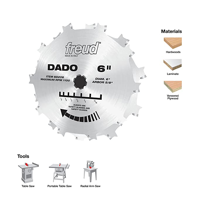 Freud 8 stacked dado set for all saws sd208s amazon keyboard keysfo Image collections