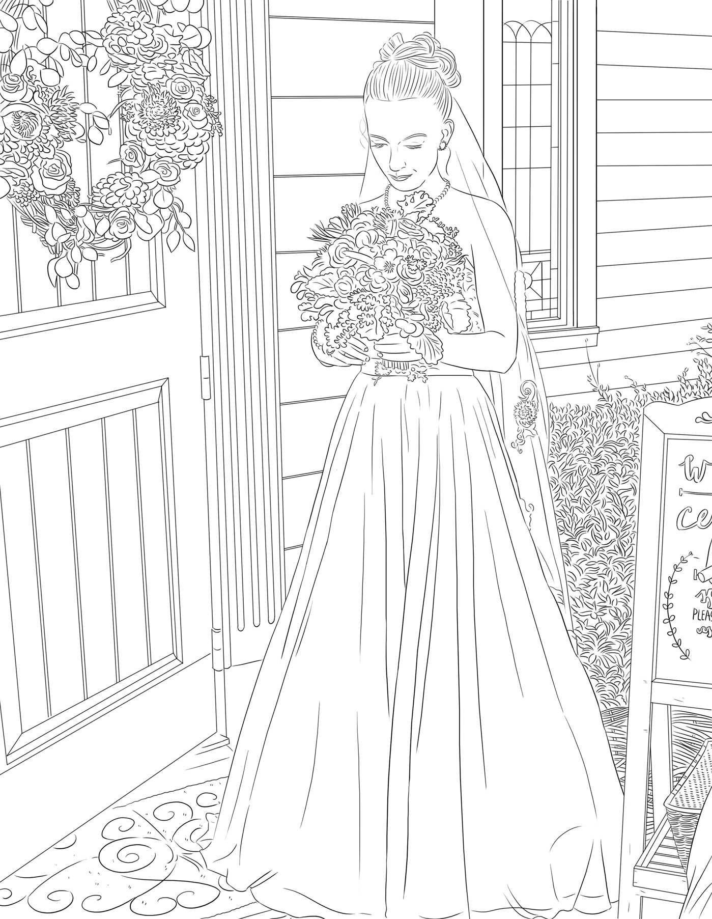 Coloring book wedding pictures - Amazon Com The Maci And Taylor Wedding Album An Adult Coloring Book 9781682613221 Maci Bookout Taylor Mckinney Books