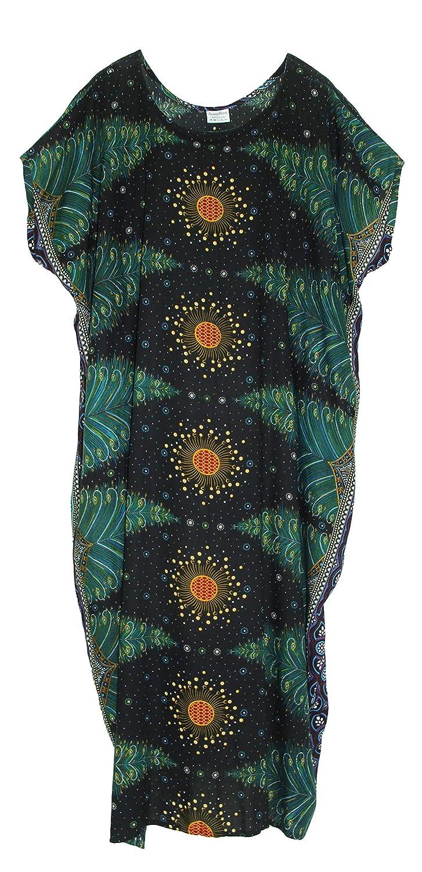 Vintage 1920s Dresses – Where to Buy Beautybatik Boho Caftan Kaftan Loungewear Maxi Long Dress XL to 2X $35.99 AT vintagedancer.com