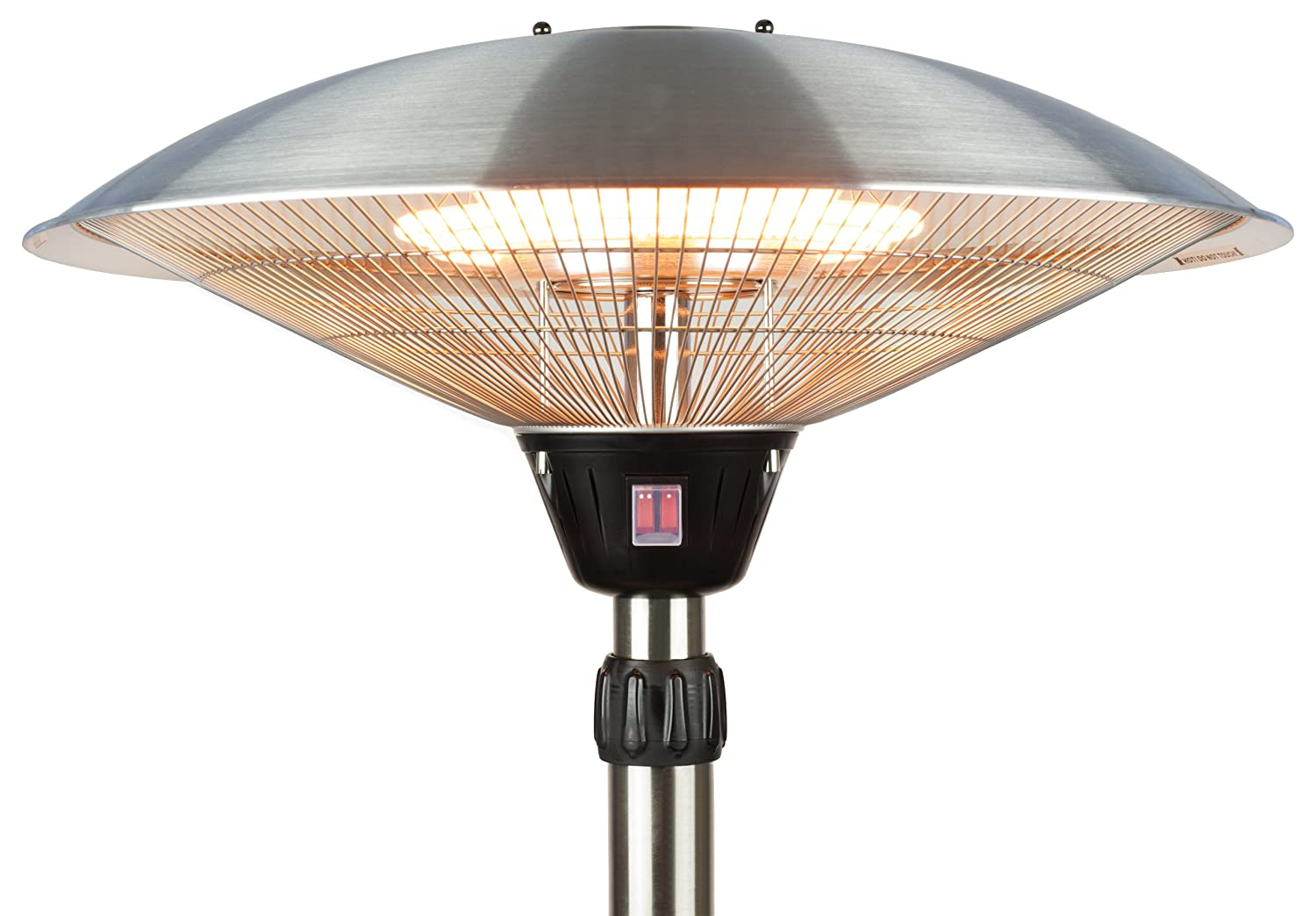 Andrew James Outdoor Patio Heater With 2100W Electric Halogen Element And  Floating Table: Amazon.co.uk: Garden U0026 Outdoors