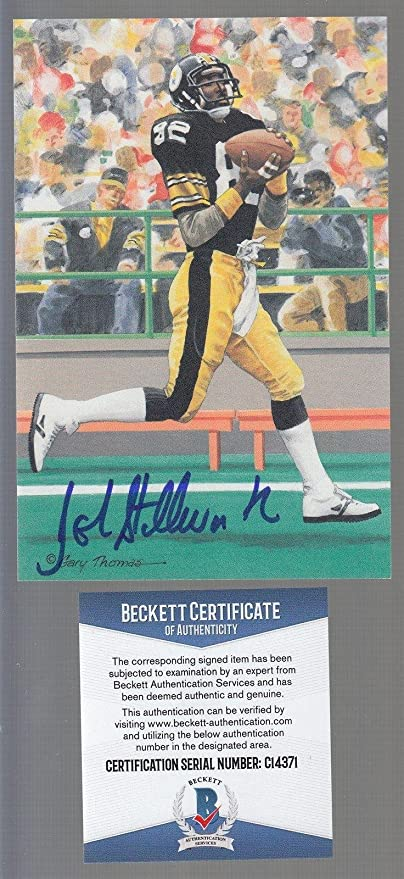 458308a2dbb John Stallworth Pittsburgh Steelers Goal Line Art Signed Autographed BAS  C14371 - Beckett Authentication