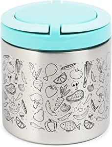 Insulated Lunch Container with Handles (22 oz, Blue)