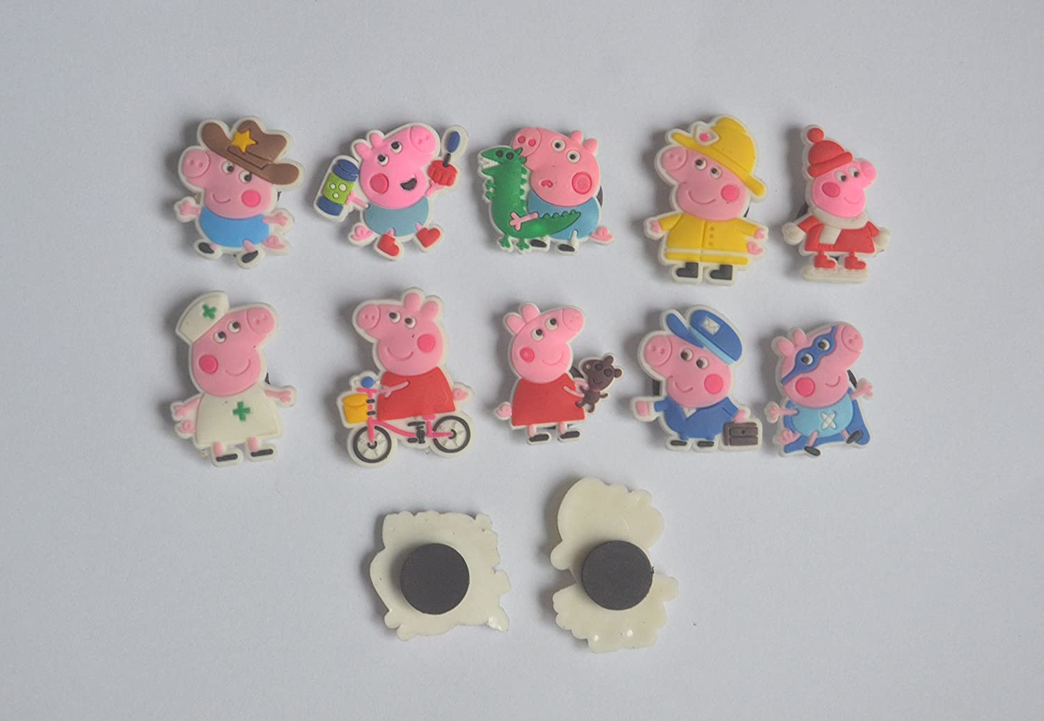 10PCS Peppa Pig Fridge stickers Refrigerator Magnet for Home & Room Decoration