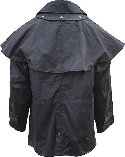 Fox Fire Men L Oilskin Oilcloth Waterproof Outback Trail Australian Waxed Coat
