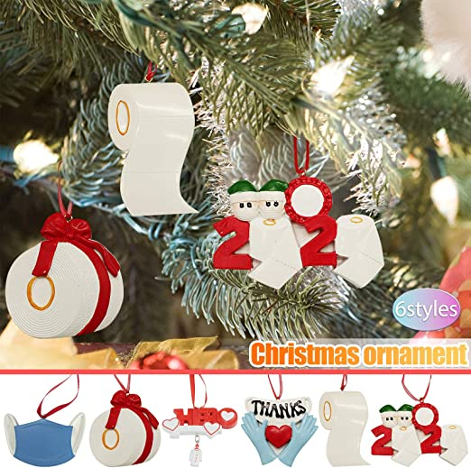 Amazon Com Melupa 2020 Christmas Ornaments Christmas Tree Decoration Pendant Funny Home Decor Creative Gift For Family For Family Home Kitchen