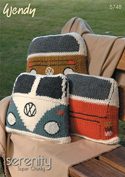 Amazon Wendy Serenity Super Chunky Campervan Cushion Knitting