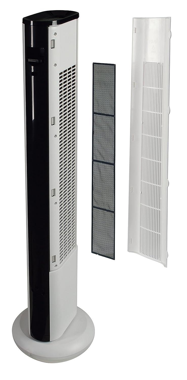 Easy Breezy Eingebauter Staubfilter 91 cm H/öhe SOLIS Turmventilator mit Temperaturanzeige und Fernbedienung Typ 757