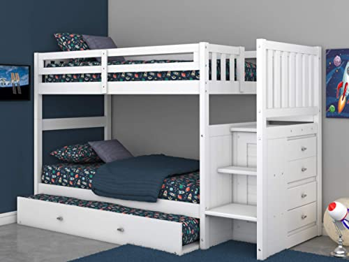 Twin Over Twin Stair Stepper Bed