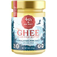 Himalayan Pink Salt Grass-Fed Ghee Butter by 4th & Heart, 9 Ounce, Keto, Pasture...