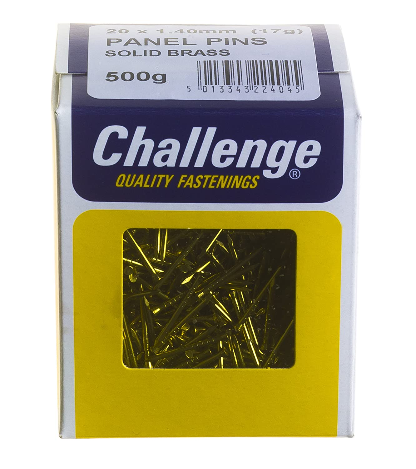 Challenge 20 x 1.40mm 500g Solid Brass Panel Pins Frank Shaw 22404