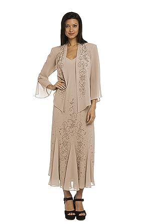 Rm Richards Plus Size 358260 Champagne Dress At Amazon Womens