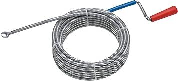 Rohrreinigungswelle mit Kurbel 10m Rohr Spirale Abflussreiniger Rohrreiniger NEU
