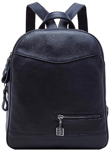 cbce490656 Amazon.com  BOYATU Genuine Leather Backpack Purse for Women Mini Travel  Rucksack  Shoes