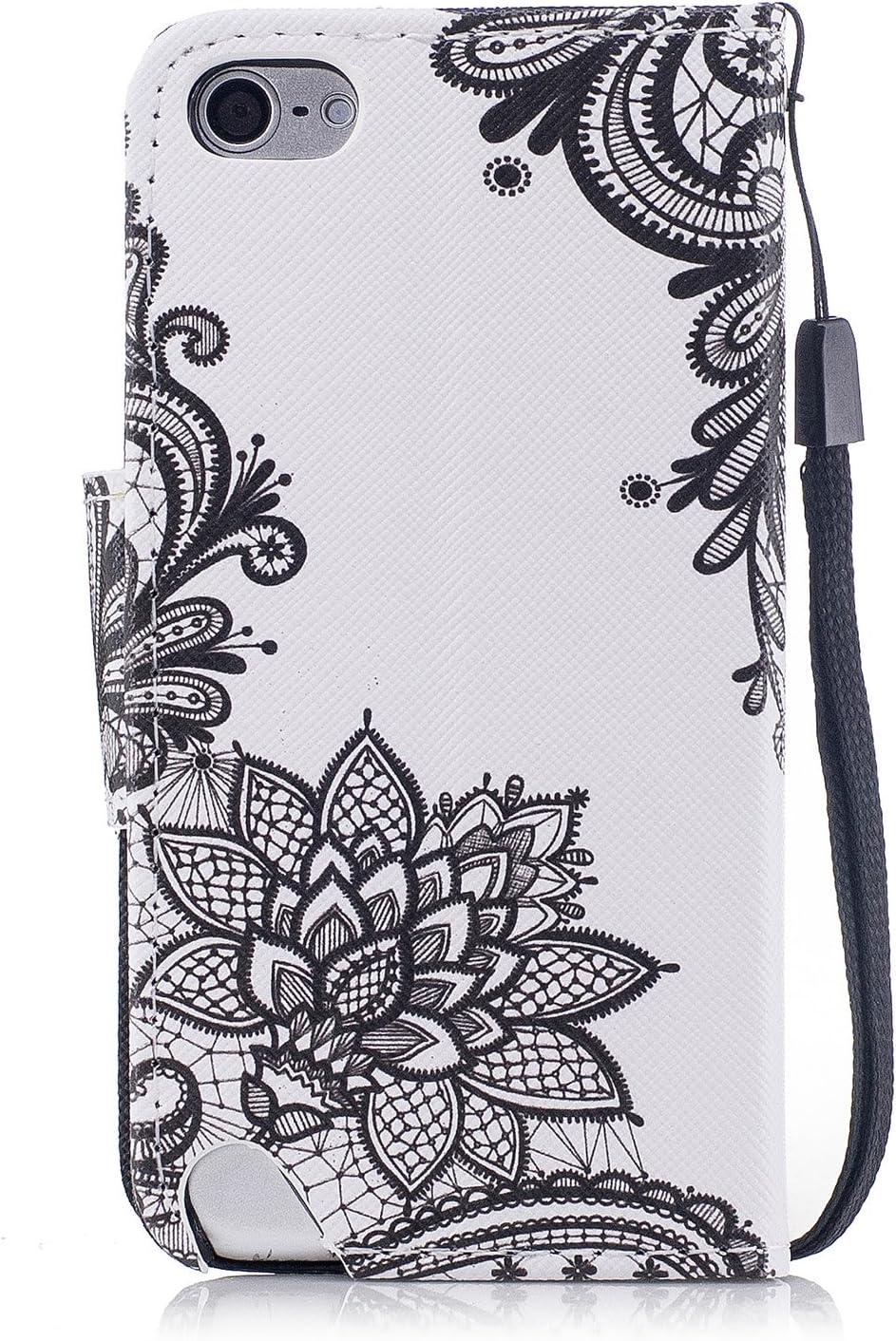 Leder Schutzh/ülle Tasche Klapph/ülle Filp Case mit Magnet Kartenfach Bunt Brieftasche Cover Handytasche f/ür iPod Touch 5//6,Schwarz CTIUYA Handyh/ülle f/ür iPod Touch 5//6 H/ülle