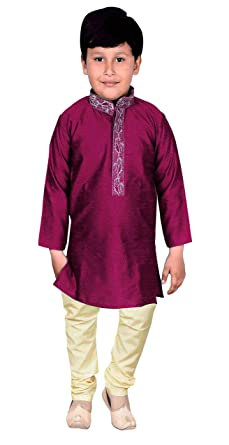 b91be50e45 Amazon.com  Boys Indian Sherwani Kurta with pajama for Bollywood theme  PARTY kids Outfit 925  Clothing