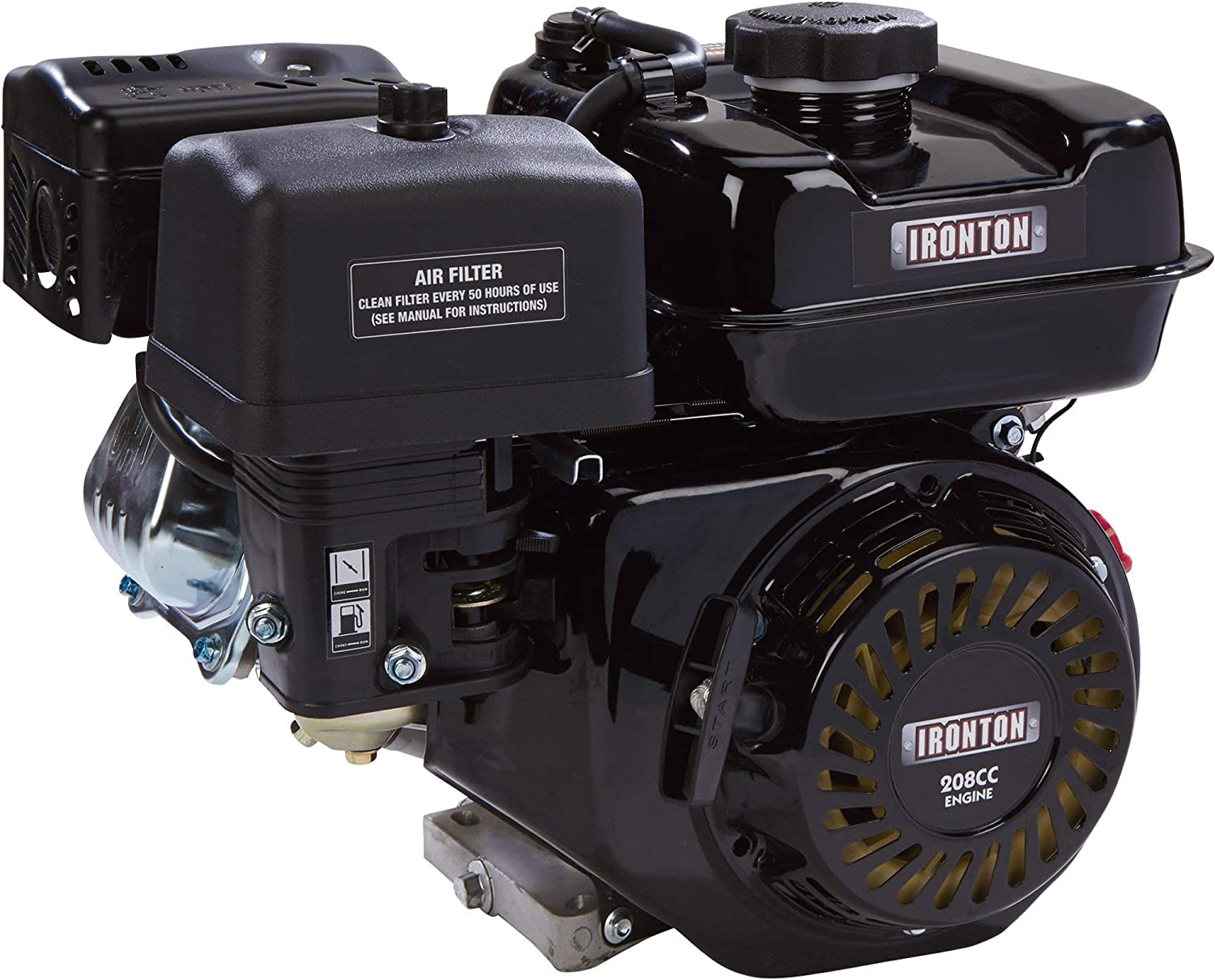 Ironton OHV Horizontal Engine x 2 19//64in. 19.05mm 58.5mm 3//4in. 208cc Shaft