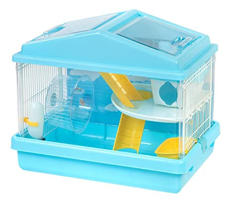 IRIS 2-Tier Hamster Cage Blue  sc 1 st  Amazon.com & Amazon.com : IRIS 2-Tier Hamster Cage Blue : Pet Supplies