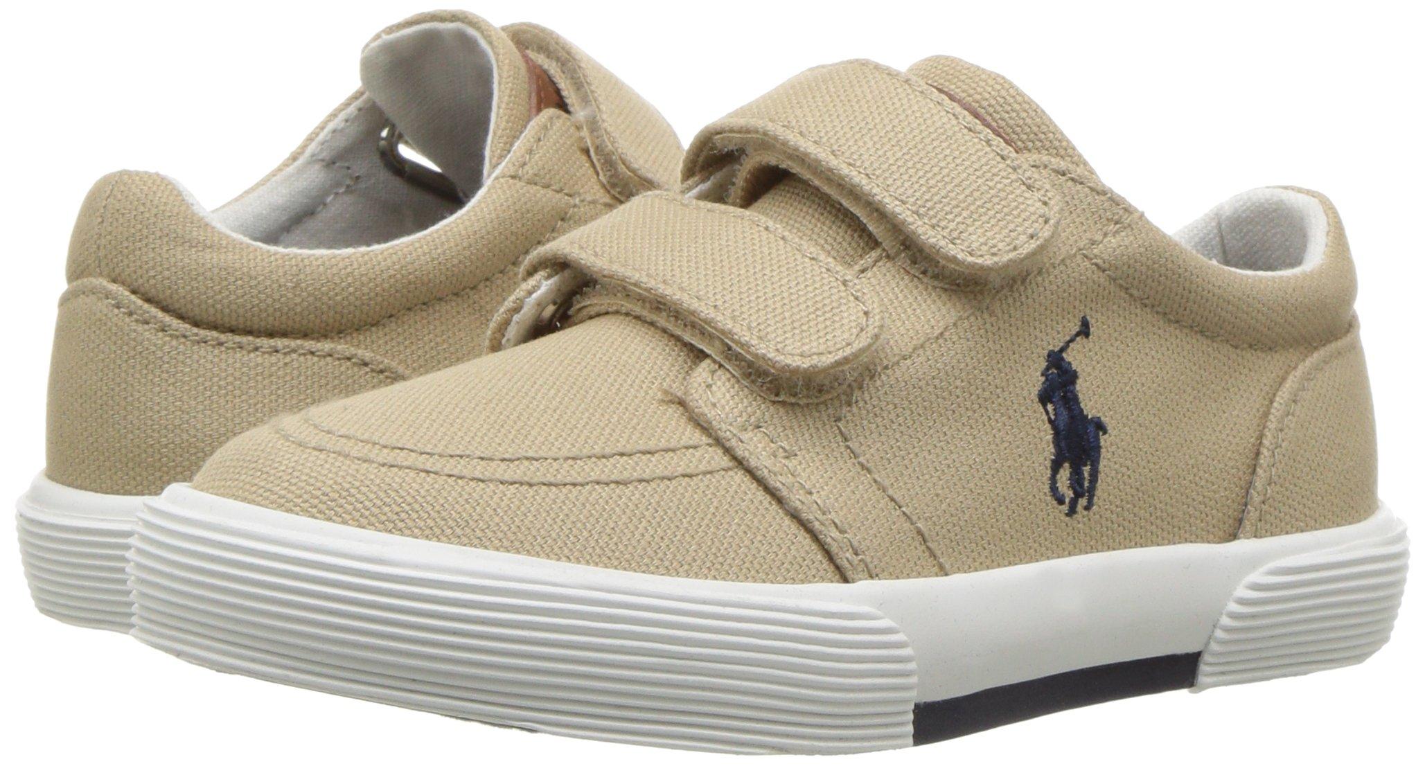 Polo Ralph Lauren Kids Boys' Faxon II Sneaker, Khaki Cotton, 10 M US Toddler by Polo Ralph Lauren (Image #6)