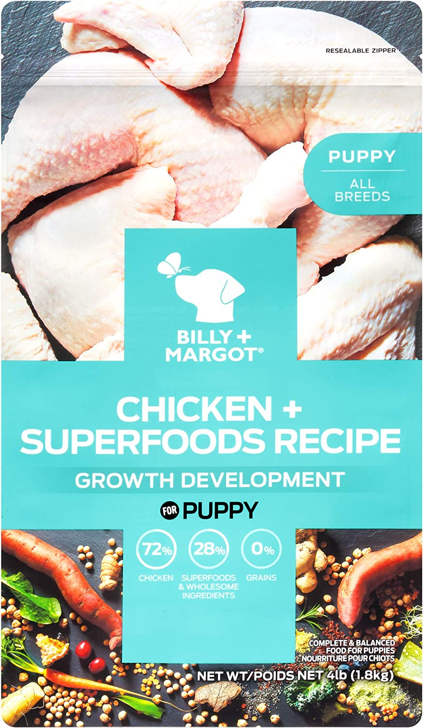 Billy + Margot Puppy + Superfood Blend Single Animal Protein Grain Free Dry Dog Food