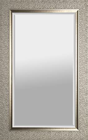 Mirrorize Canada Antique Mosaic Framed Wall Mirror Vanity,Hallway,Bathroom, Bedroom 27X43 Silver Rectangle Large Accent Mirror