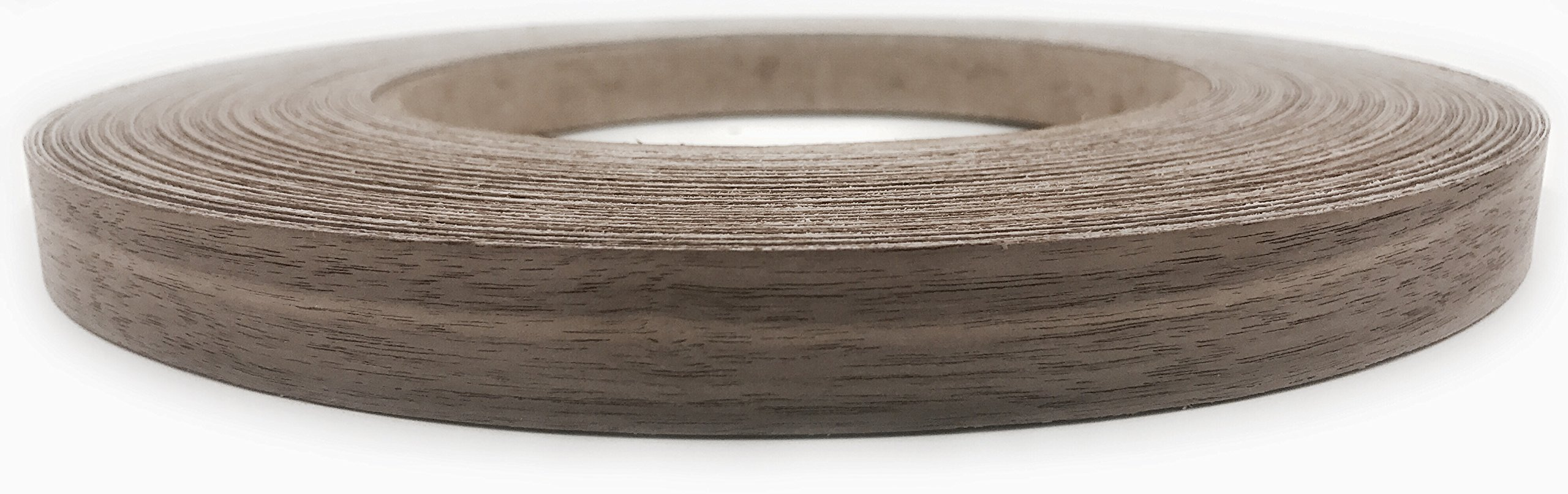 Walnut Wood Veneer Edgebanding Preglued 7/8'' X 250' Roll, Iron on with Hot Melt Adhesive, Sanded to perfection. Easy application, Made in USA.
