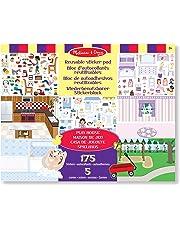 Melissa & Doug - Casa de juguete, bloc de autoadhesivos reutilizables (14197)