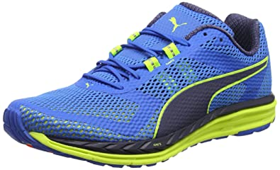 Puma Men s Electric Blue Lemonade-Safety Yellow-Peacoat Running Shoes-7 UK  214a1fec57a