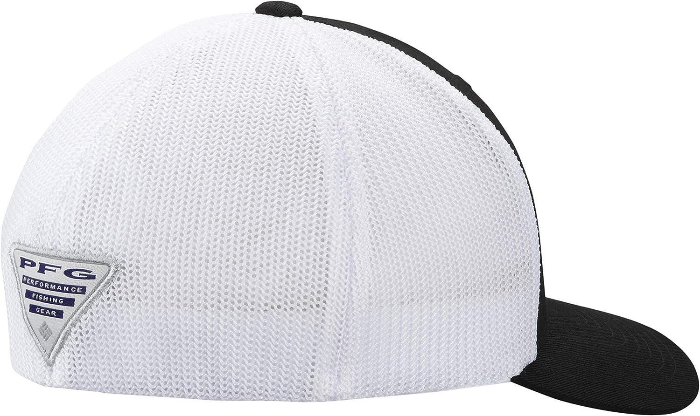 Columbia PFG Hook Patch Flexfit Fitted Mesh Ball Cap in Black L//XL 6 3//4-7 1//2