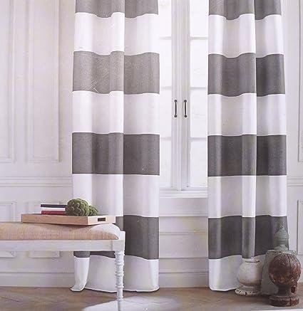 Tommy Hilfiger rayas anchas cortinas cabaña 2 cortinas 127 cm por ...