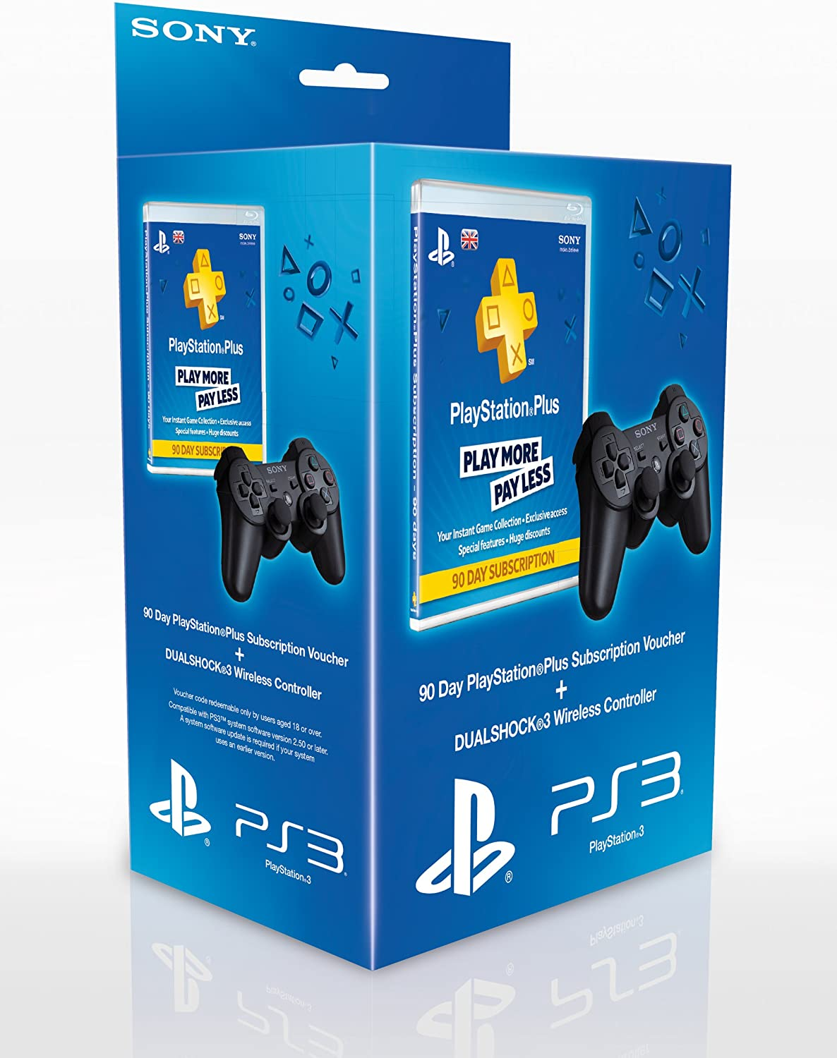 Sony Playstation Dualshock 3 Controller And 90 Day PS Plus Voucher ...