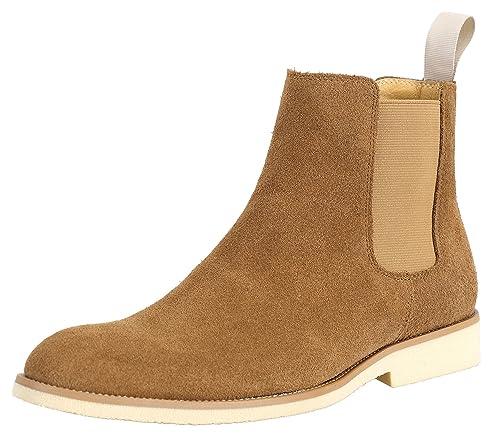 grand choix de 4500a ac6c8 Bottes Homme Cuir Italiennes Cheville Décontracté Bottine Chelsea  Classiques Chaussures Noir/Marron/Vert