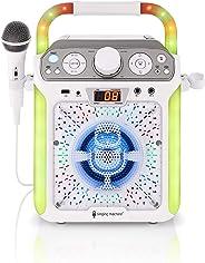 Singing Machine SML682BTW Groove Cube CDG Karaoke System, White