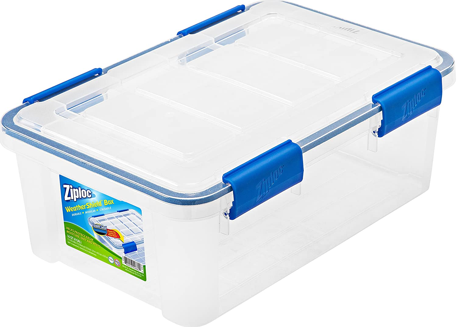 Ziploc WeatherShield 60 Quart Storage Box, Clear IRIS USA Inc. 394008