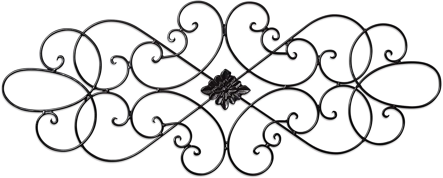 """Besti Wall Art Medallion – Oblong Living Room Home Decoration 32"""" Wide x 12"""" Tall – Great Home Décor Piece – Made of Quality Iron"""