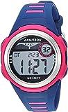 Armitron Sport Unisex 45/7069NVY Digital Chronograph Magenta and Navy Blue Resin Strap Watch