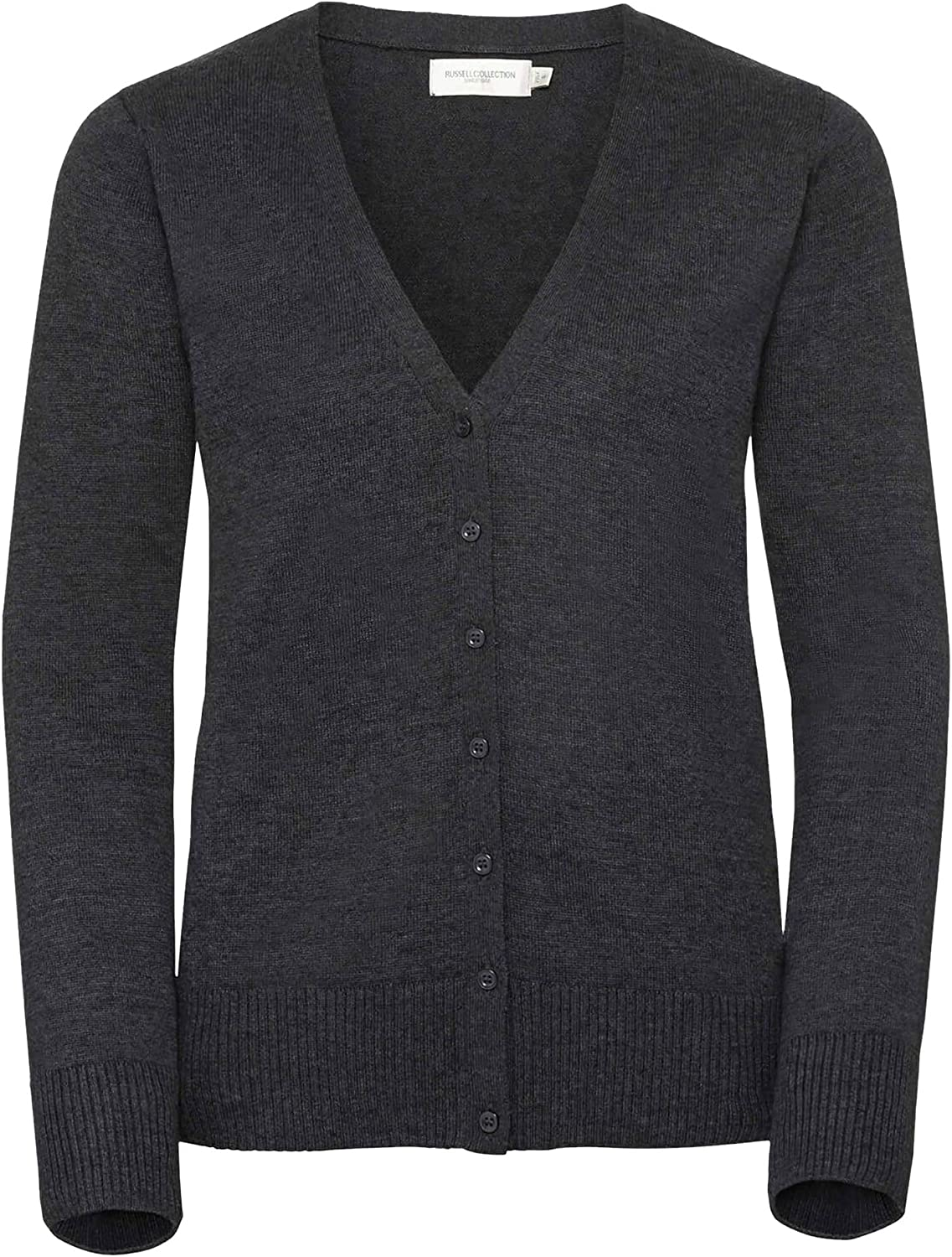 Russell Collection LadiesWomens V Neck Knitted Cardigan