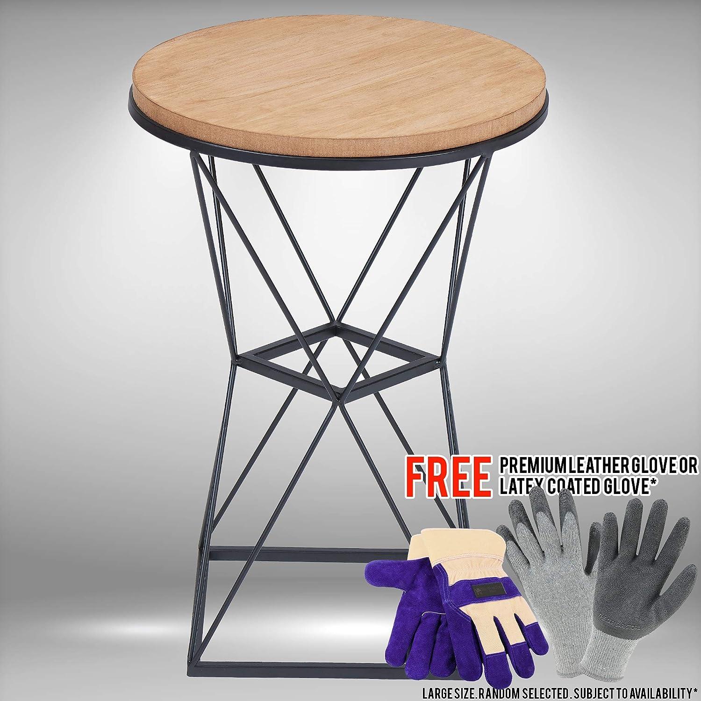 Phenomenal Amazon Com Geo Wire Wood And Metal Garden Stool Bundled Ncnpc Chair Design For Home Ncnpcorg