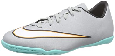 Nike Youth Mercurial Victory V CR Indoor (Metallic Silver/Hyper Turq/Black)