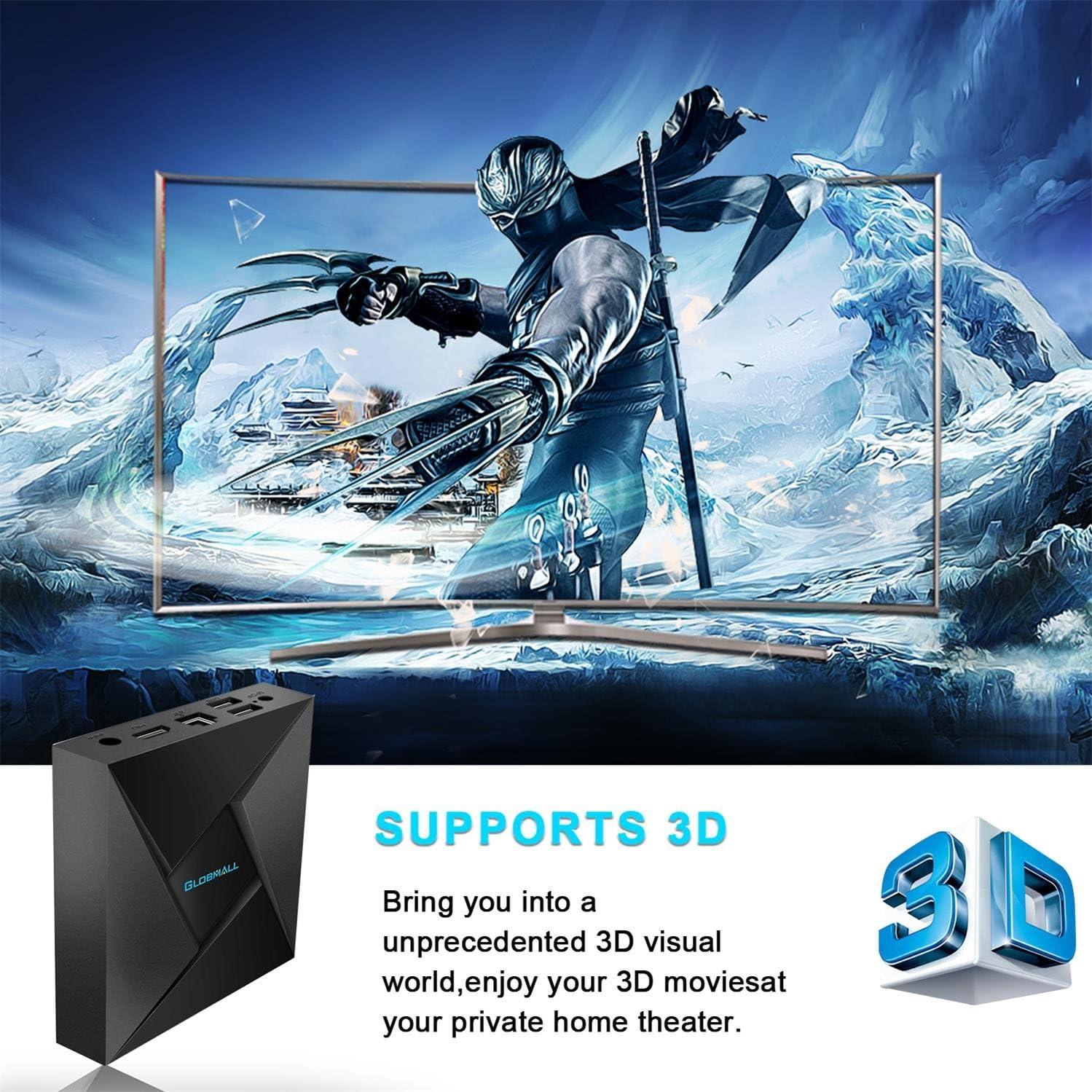 globmall 4 K Android TV Box 7.1, 2018 modelo x4 Smart TV Box 2 G RAM 16 G ROM Amlogic Quad Core ARM Cortex A53 @ 2GHz con HDMI 2.0 a Bluetooth V4.0: Amazon.es: Electrónica