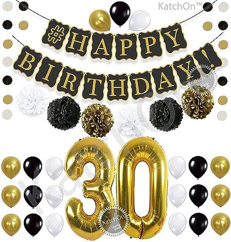 Black 30th Birthday Decorations Party KIT