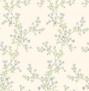 /Plata BHF fd22262/AMI Claire verde floral Trail papel pintado/