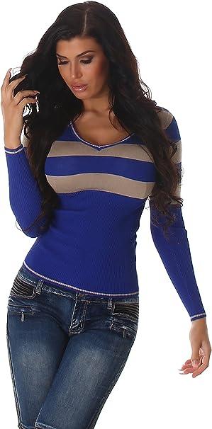 36 38 dunkeloliv Spitze V-Neck Stretchshirt NEU Langarmshirt Shirt Gr