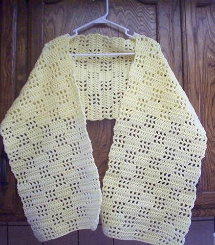 Amazoncom Hand Crochet Checker Box Filet Prayer Shawl Wrap