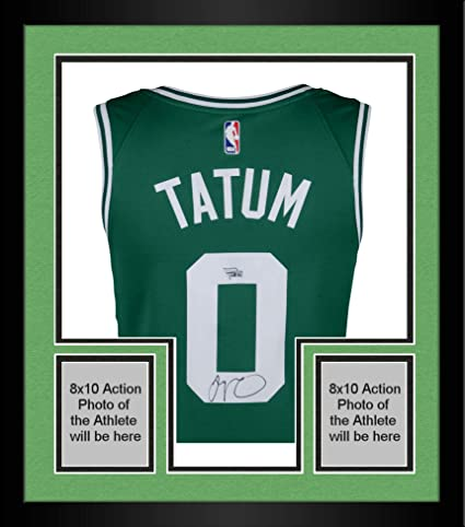 innovative design c0db9 a1031 Framed Jayson Tatum Boston Celtics Autographed Nike Green ...