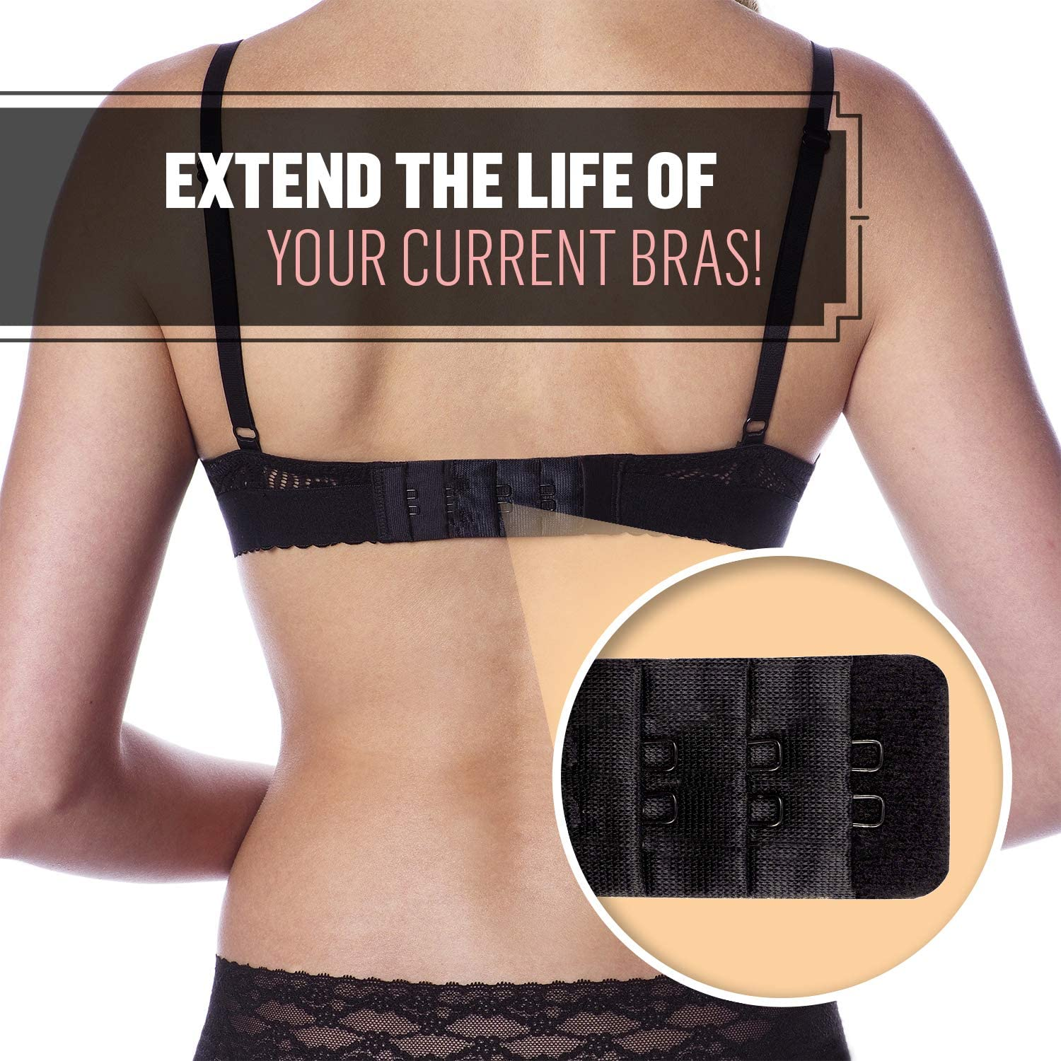 2-pack total 6 Extend-A-Bra 3 in each
