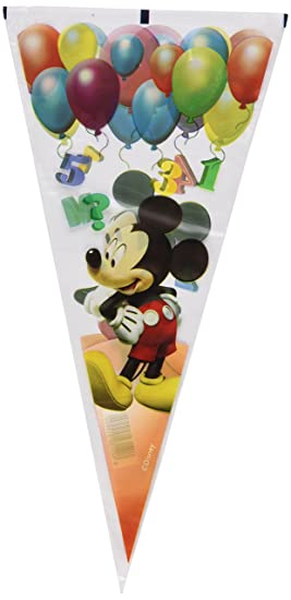 Mickey Mouse - Bolsa de cumpleaños Clu House Estrellas, 100 ...