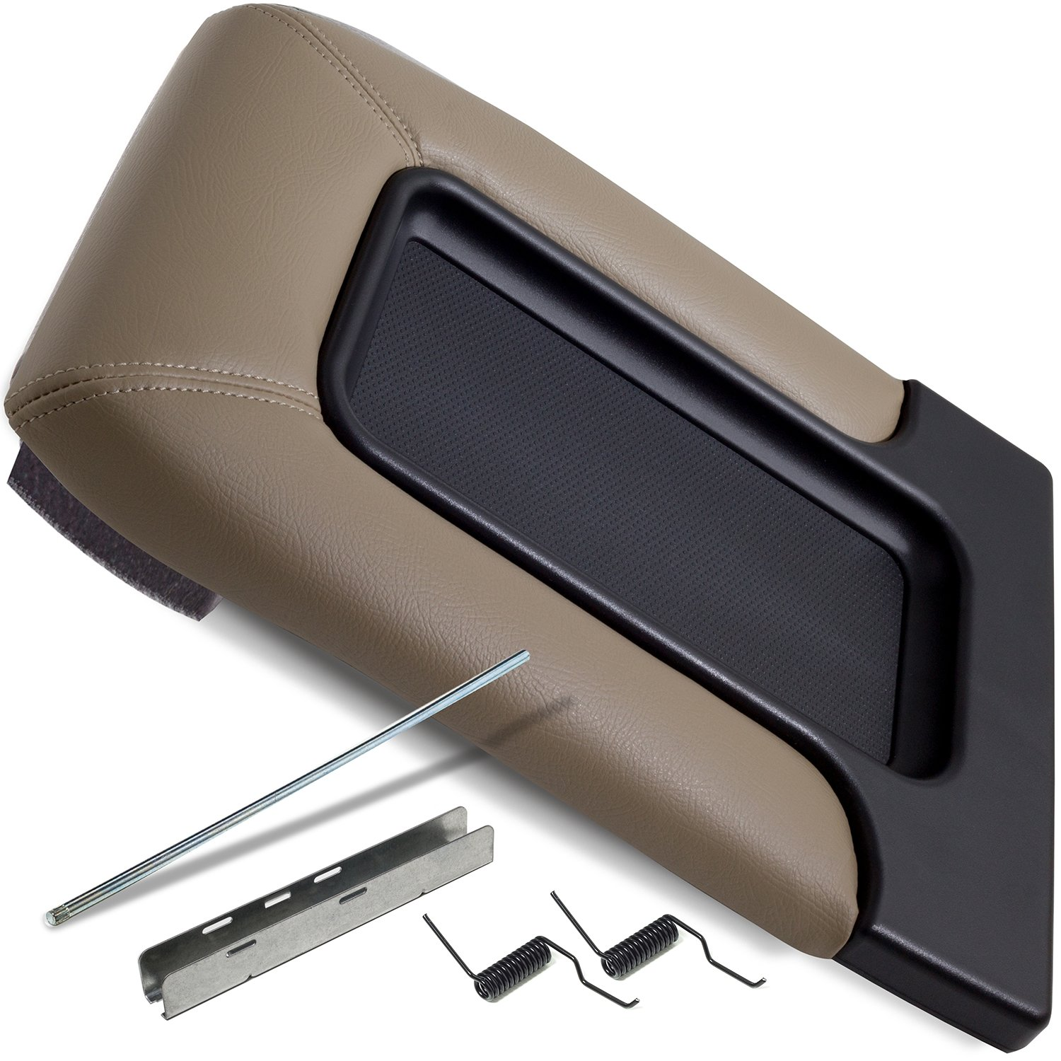 Center Console Lid Replacement Cover - 99-07 Chevy Silverado Tahoe Avalanche Suburban GMC Sierra Yukon Escalade Truck Accessories Best for Chevrolet Consoles Organizer Armrest Latch Replaces 19127366