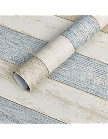 46e1b0798 Homein Vinilo Pegatina Para Muebles Cocina Papel Decorativa Armario Diseño  de Raya Azul PVC Material Para